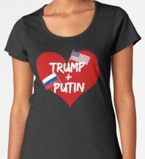 Trump and Putin Friendship Heart Women's Premium T-Shirt