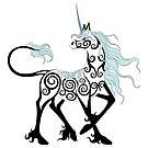 Gaze Tribal Unicorn by WolvenDreams