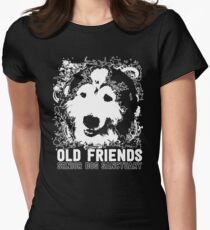 Funny Old Friends Senior Dog Sanctuary Tee Women's Fitted T-Shirt
