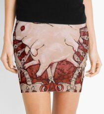 Scarlet and Violet Mini Skirt