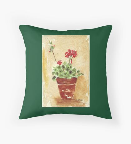 Why grow geraniums in containers? Throw Pillow