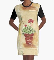 Why grow geraniums in containers? Graphic T-Shirt Dress
