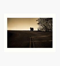 The Lone Road Home Art Print