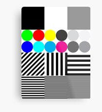 Extreme tone test pattern with colour Metal Print