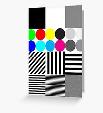 Extreme tone test pattern with colour Greeting Card