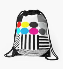 Extreme tone test pattern with colour Drawstring Bag