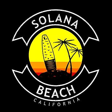 Solana Beach California Surf  by styleuniversal