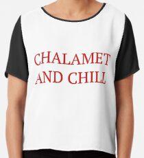Chalamet und Chill - Timothee Chalamet Chiffontop