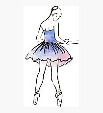 ballerina figure, watercolor illustration Photographic Print