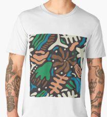 Abstract tropic leaves modern pattern Men's Premium T-Shirt