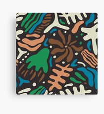 Abstract tropic leaves modern pattern Canvas Print