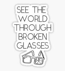 Broken Glasses World Sticker