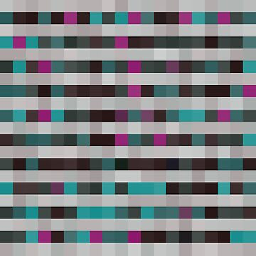 pattern with colorful squares and stripes by EkaterinaP