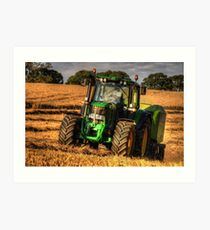 Tractor and the Baler Art Print