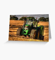 Tractor and the Baler Greeting Card