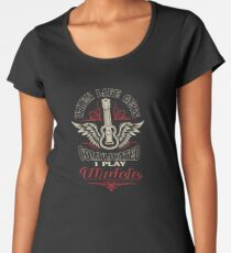 When Life Gets Complicated I Play Ukulele Women's Premium T-Shirt