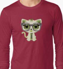 Kitten Nerd - Green Long Sleeve T-Shirt