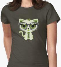 Kitten Nerd - Green T-Shirt