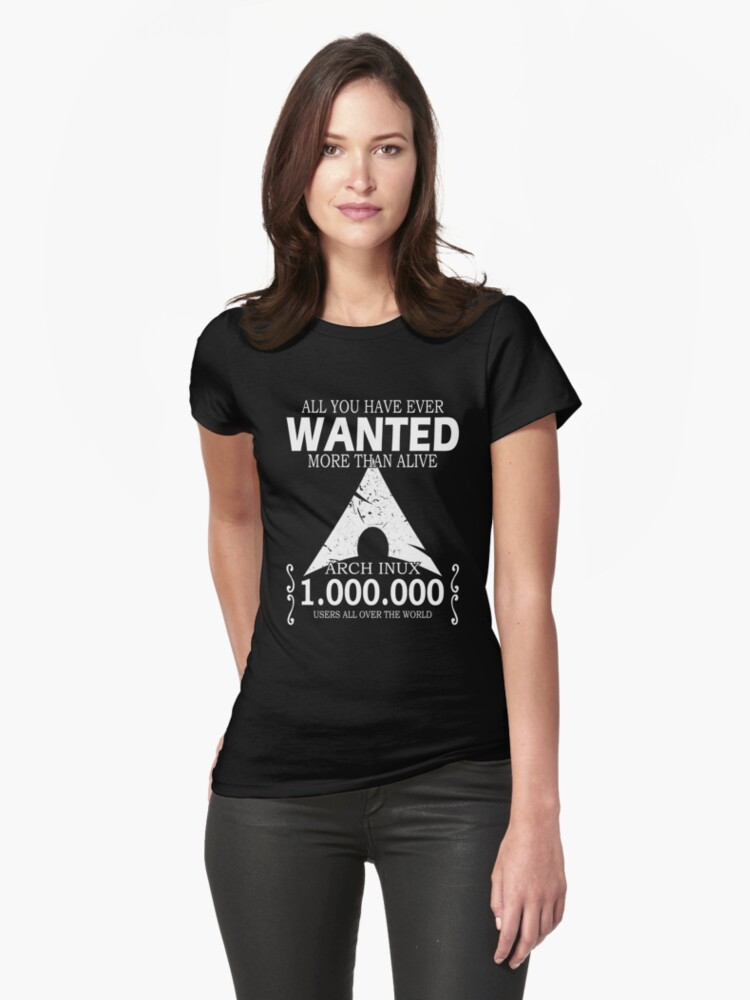 Arch Linux Most Wanted AUR  Womens T-Shirt Front