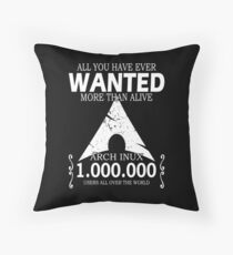 Arch Linux Most Wanted AUR  Throw Pillow