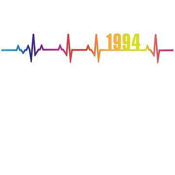 1994 Heartbeat Birthday Gift LGBT Pride by FiftyStyle