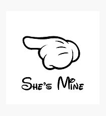 """She's Mine (Matches with """"He's Mine"""") Photographic Print"""