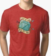 D20 Crit Me With Your Best Shot Tri-blend T-Shirt