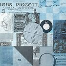 Vintage Collage 2 - Blue by MikeHindle