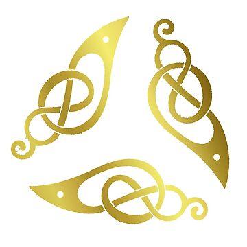 Celtic - Birds three -Golden. by timothybeighton