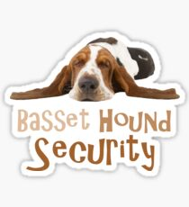 Funny Basset Hound Security Design Sticker