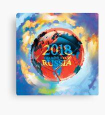FIFA 2018 world cup Russia soccer ball Canvas Print
