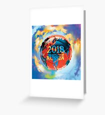FIFA 2018 world cup Russia soccer ball Greeting Card