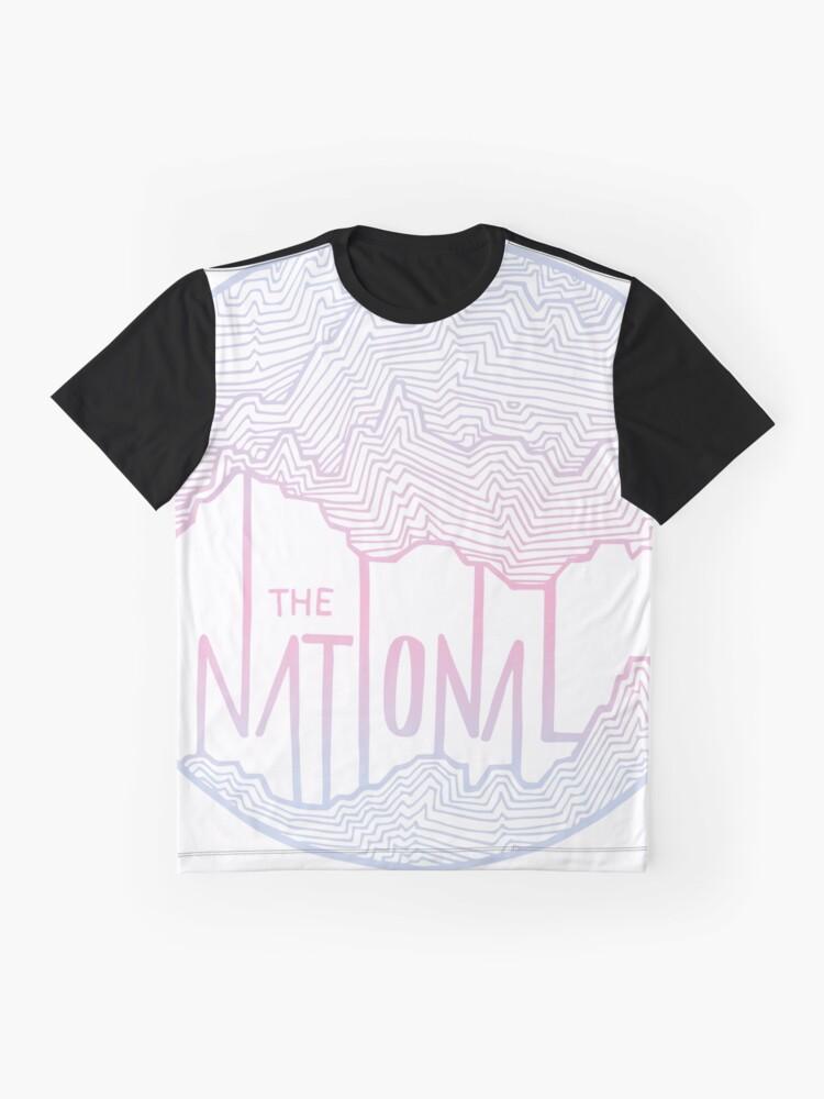 Alternative Ansicht von Die nationale Linie Kunst Grafik T-Shirt