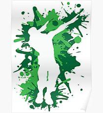 Tupfentanz - Grün Poster