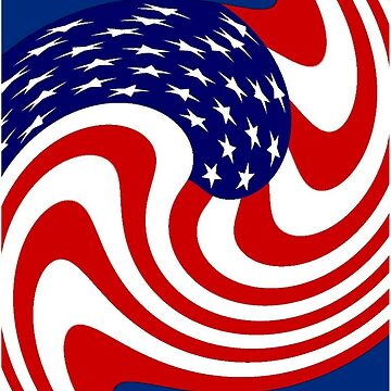 AMERICAN FLAG : Abstract Print by posterbobs