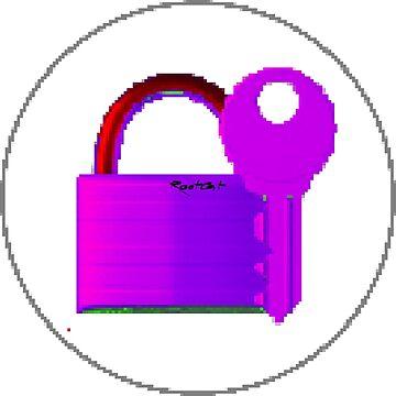 Securitii emoji 3 by RootCat (purple key) by Grimm-Land