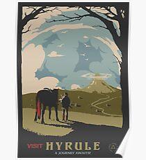 Besuche Hyrule Poster