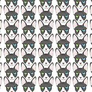 Odd Eyed Sphinx Cat Pattern by emilydevineart