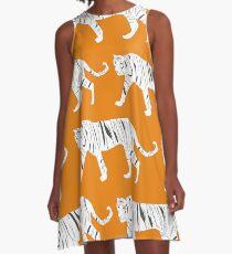 Tiger Print A-Line Dress