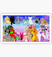 kittydog youtube banner  Sticker