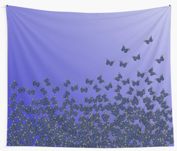 Butterfly Horde ;) Purple, violet colors, insects pattern by cool-shirts