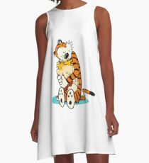 calvin and hobbes A-Line Dress