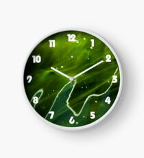 Green Algae and Water White Fat Numbers Wall Clock Clock