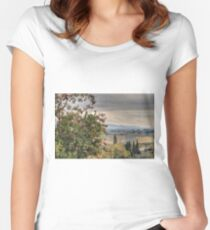Tuscan Countryside Women's Fitted Scoop T-Shirt