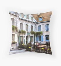Place Royale - Old Quebec City Throw Pillow