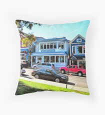 Main Street - Bar Harbor Throw Pillow