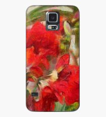 Red Lilies Case/Skin for Samsung Galaxy