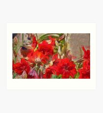 Red Lilies Art Print
