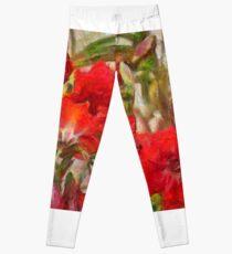 Red Lilies Leggings