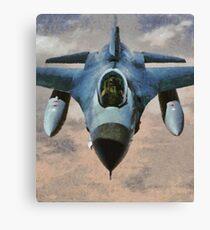 F-16 Falcon Jet Fighter Canvas Print